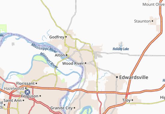 East Alton Map