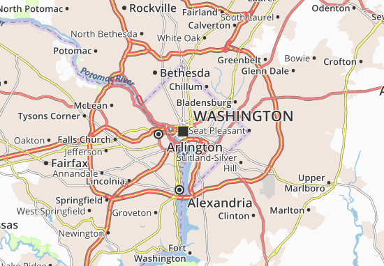 Map of Washington Michelin Washington map ViaMichelin – Washington Tourist Attractions Map