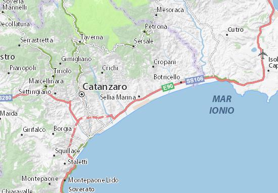 Cartina Calabria Sellia Marina.Mappa Sellia Marina Cartina Sellia Marina Viamichelin