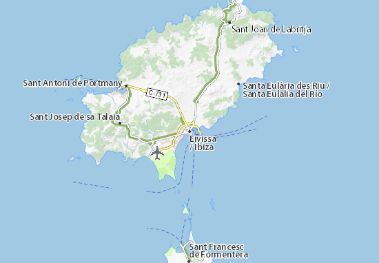 mapa ibiza Mapa Ibiza   plano Ibiza   ViaMichelin