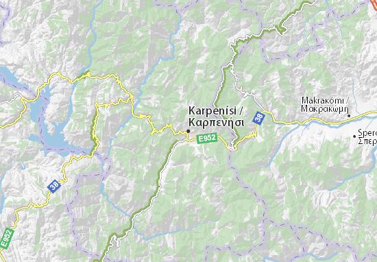 Mapa Plano Karpenísi
