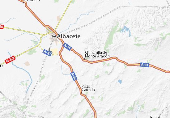 Mappe-Piantine Chinchilla de Monte Aragón