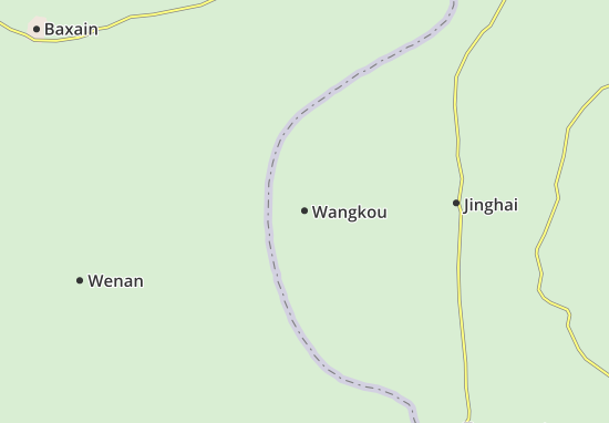 Kaart Plattegrond Wangkou