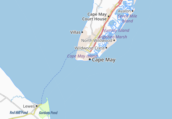 Map of Cape May Michelin Cape May map ViaMichelin – Cape May Tourist Map