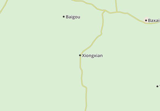Mapas-Planos Xiongxian