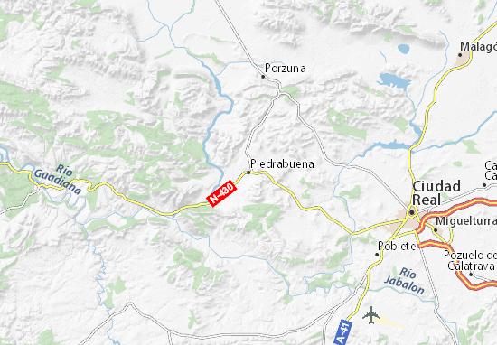Piedrabuena Map