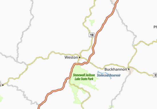 Mapa Weston  plano Weston  ViaMichelin