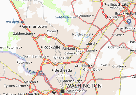 Colesville Map