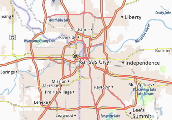 Map Of Kansas City Michelin Kansas City Map ViaMichelin - Map of kansas