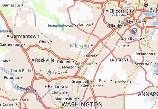 Burtonsville Map