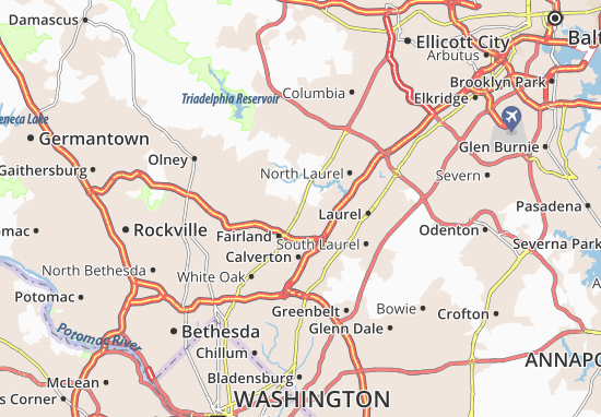Mapas-Planos Burtonsville