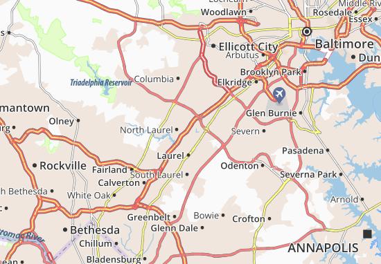 North Laurel Map