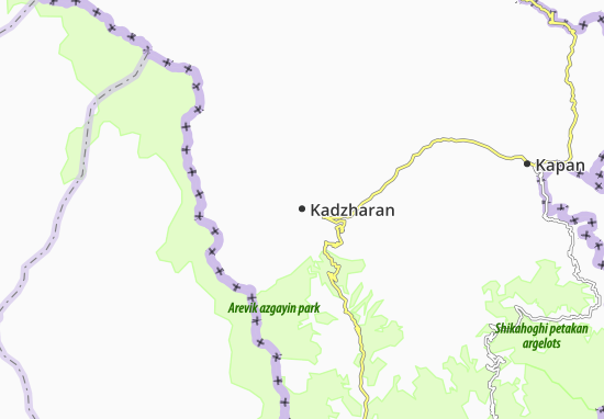 Mapa Plano Kadzharan