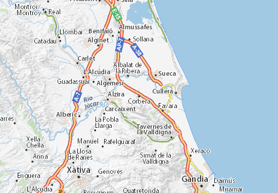 Corbera Map