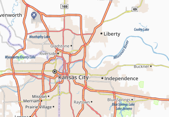 Map of East Kansas City - Michelin East Kansas City map - ViaMichelin