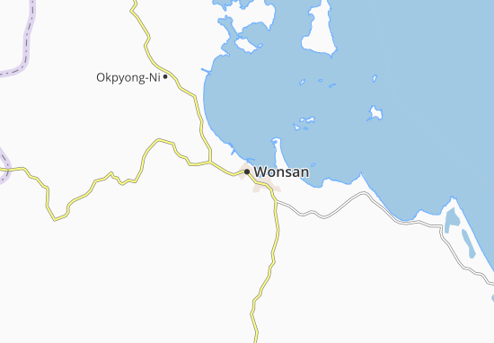 Kaart Plattegrond Wonsan