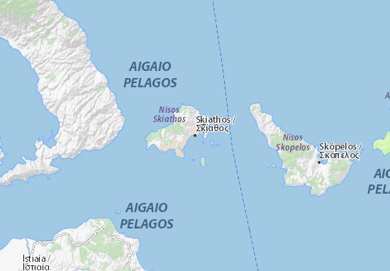 Skíathos Map: Detailed maps for the city of Skíathos ...