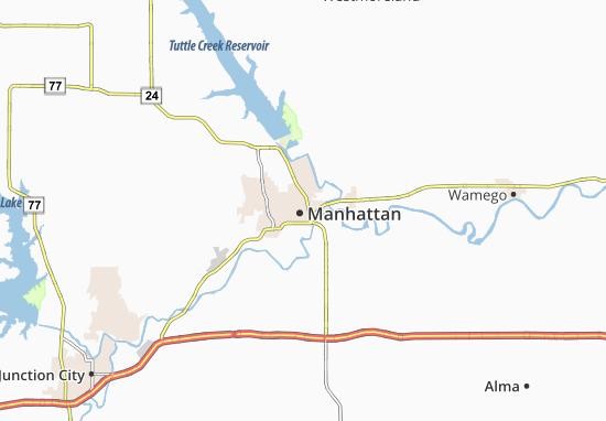 Kaart Plattegrond Manhattan