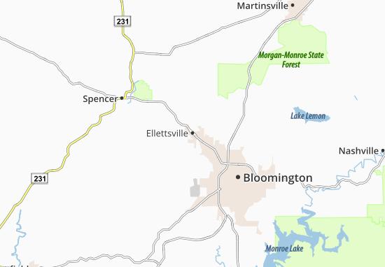 Ellettsville Map