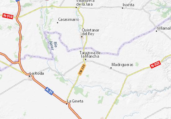 Detailed Map Of Tarazona De La Mancha Tarazona De La Mancha Map