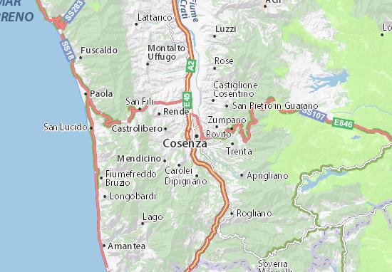 Cosenza Map