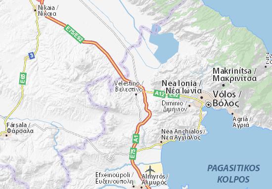 Velestíno Map
