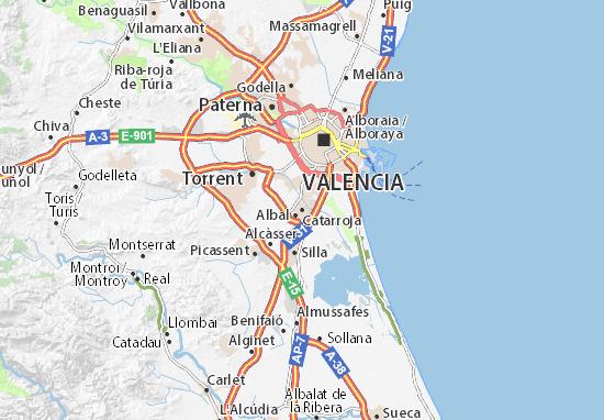 Mapa De Valencia España.Mapa Catarroja Plano Catarroja Viamichelin