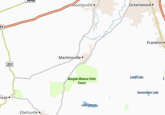 Carte-Plan Martinsville