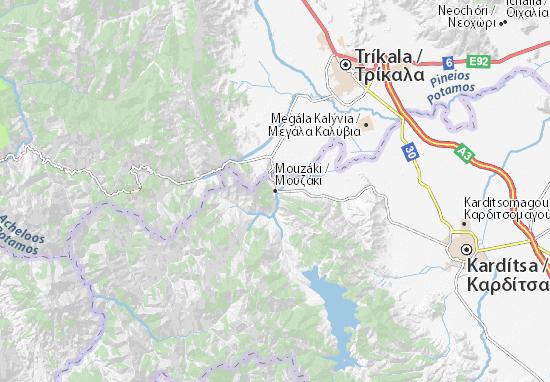 Mouzáki Map