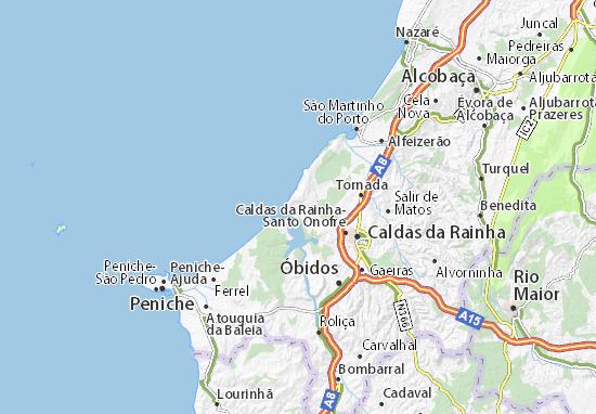 Map Of Foz Do Arelho Michelin Foz Do Arelho Map ViaMichelin - Portugal map nazare