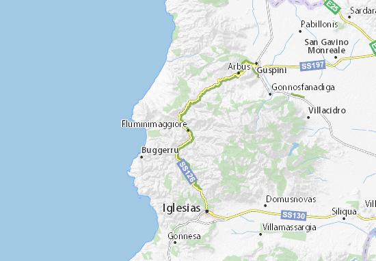 Cartina Sardegna Buggerru.Mappa Michelin Fluminimaggiore Pinatina Di Fluminimaggiore Viamichelin