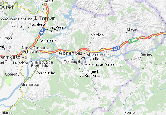 Carte-Plan Abrantes