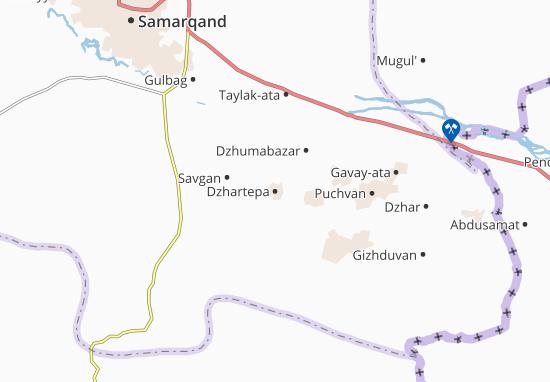 Mapa Plano Dzhartepa