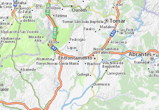 Map Of Torres Novas Michelin Torres Novas Map ViaMichelin - Portugal map tomar