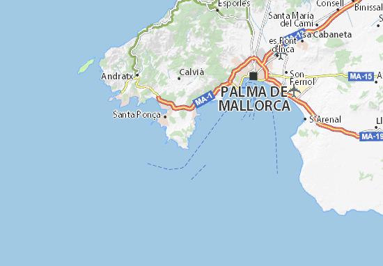 Sol de Mallorca Map: Detailed maps for the city of Sol de Mallorca ...