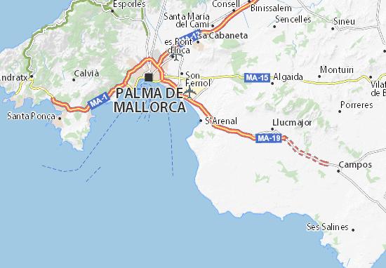 Cala Ratjada Karte.Karte Stadtplan Cala Blava Viamichelin