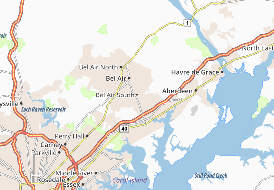 Bel Air South Map