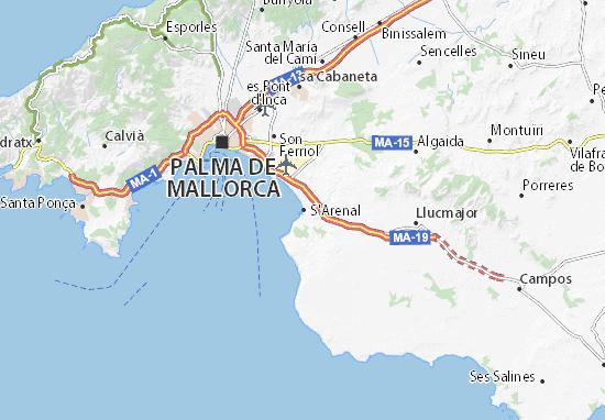 Karte Hotels Playa De Palma