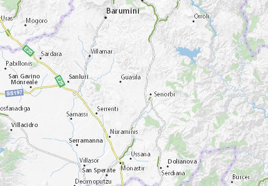 Cartina Sardegna Villamar.Mappa Michelin Ortacesus Pinatina Di Ortacesus Viamichelin