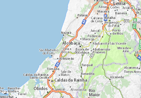 Cela Nova Map Detailed Maps For The City Of Cela Nova ViaMichelin - Portugal map obidos