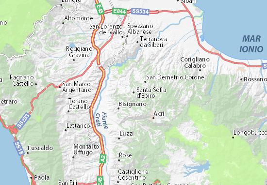 Carte-Plan Santa Sofia d'Epiro