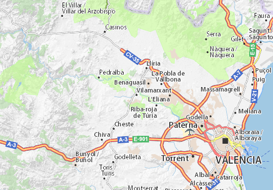 Vilamarxant Map