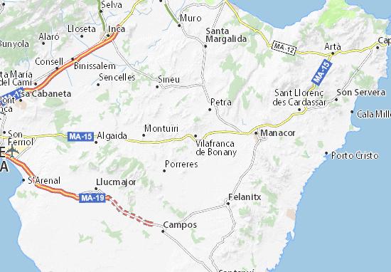 Carte-Plan Vilafranca de Bonany