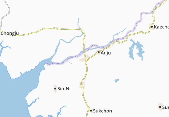 Kaart Plattegrond Chungam-Ni