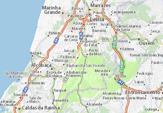 Map Of Pe Da Serra Michelin Pe Da Serra Map ViaMichelin - Portugal map nazare
