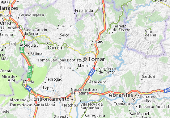 Tomar Map Detailed Maps For The City Of Tomar ViaMichelin - Portugal map tomar