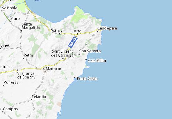 Karte, Stadtplan Cala Millor - ViaMichelin