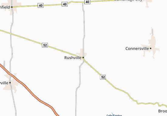 Map Of Rushville Michelin Rushville Map Viamichelin