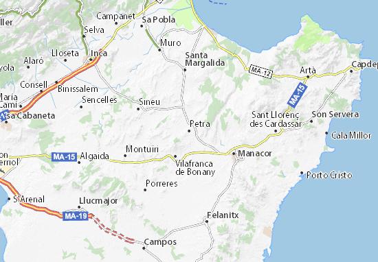 Porto Cristo Karte.Karte Stadtplan Petra Viamichelin