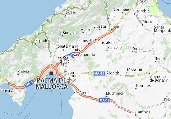 Mapa De Mallorca Municipios.Mapa Mallorca Plano Mallorca Viamichelin
